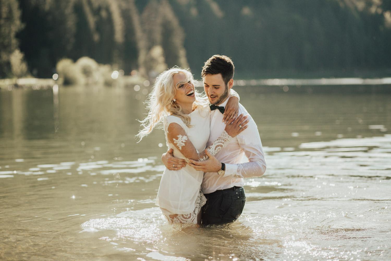 baden am Hochzeitstag