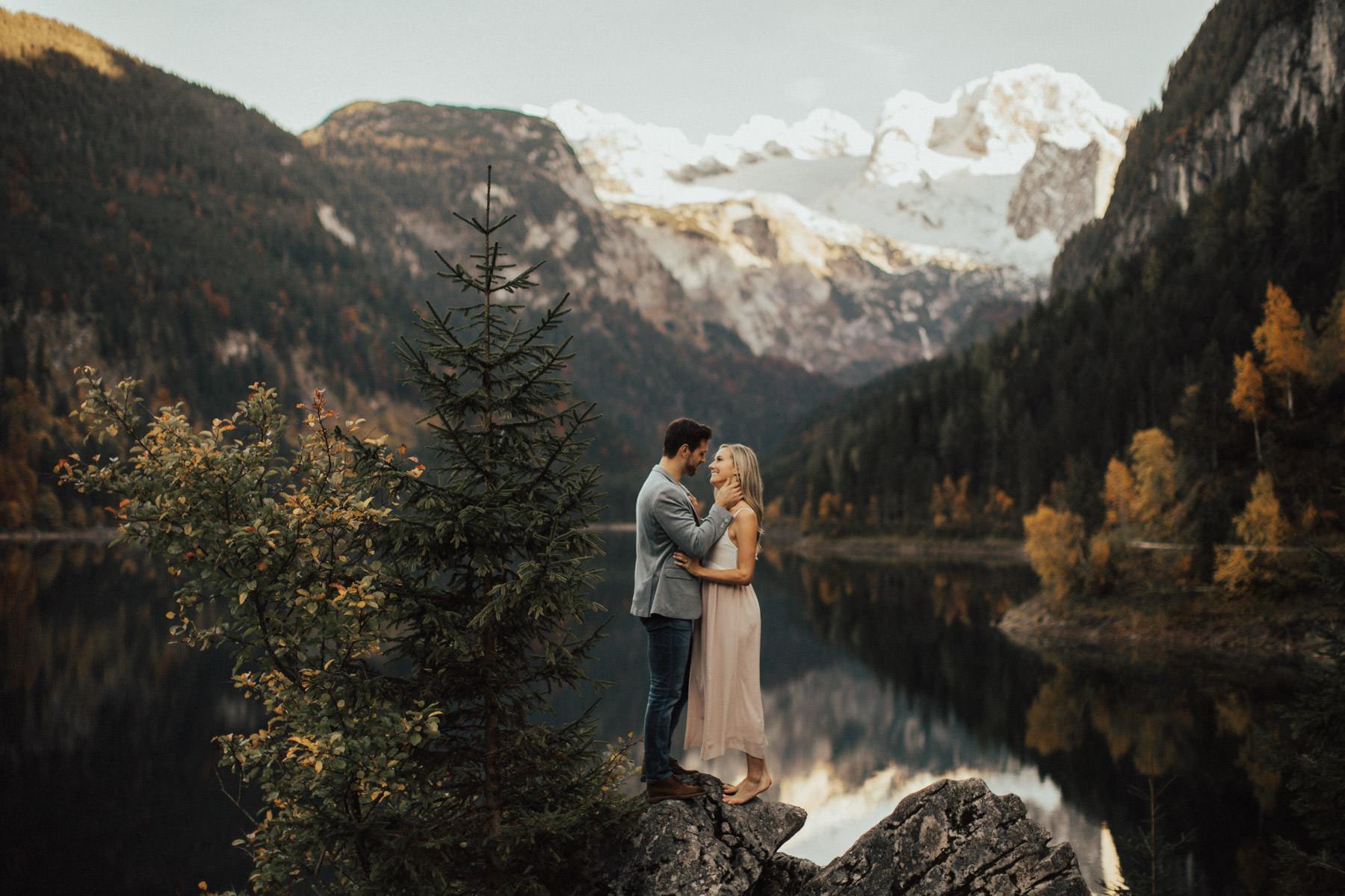 Verlobungssfotos am Gosausee