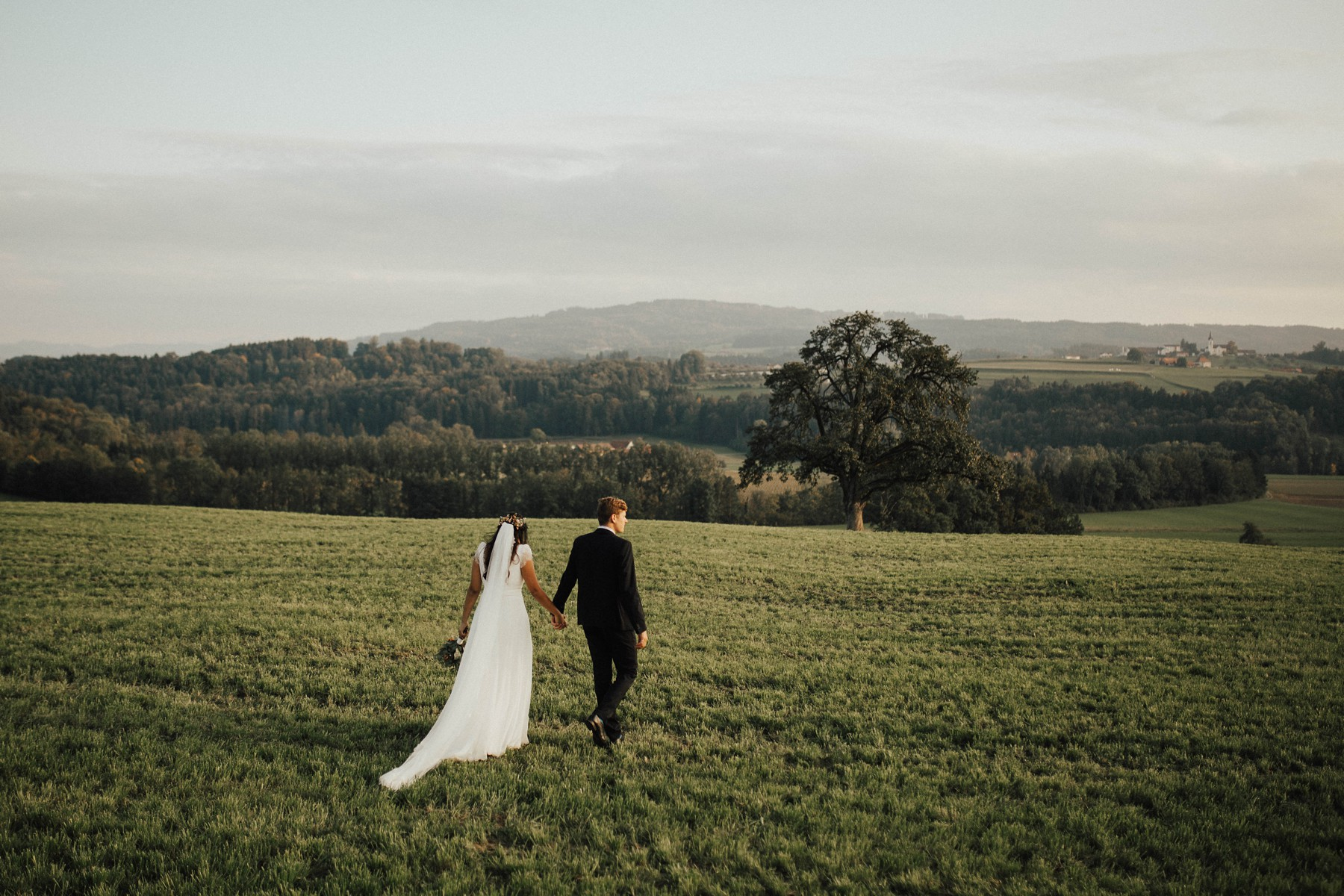 beautiful landscape zurich wedding