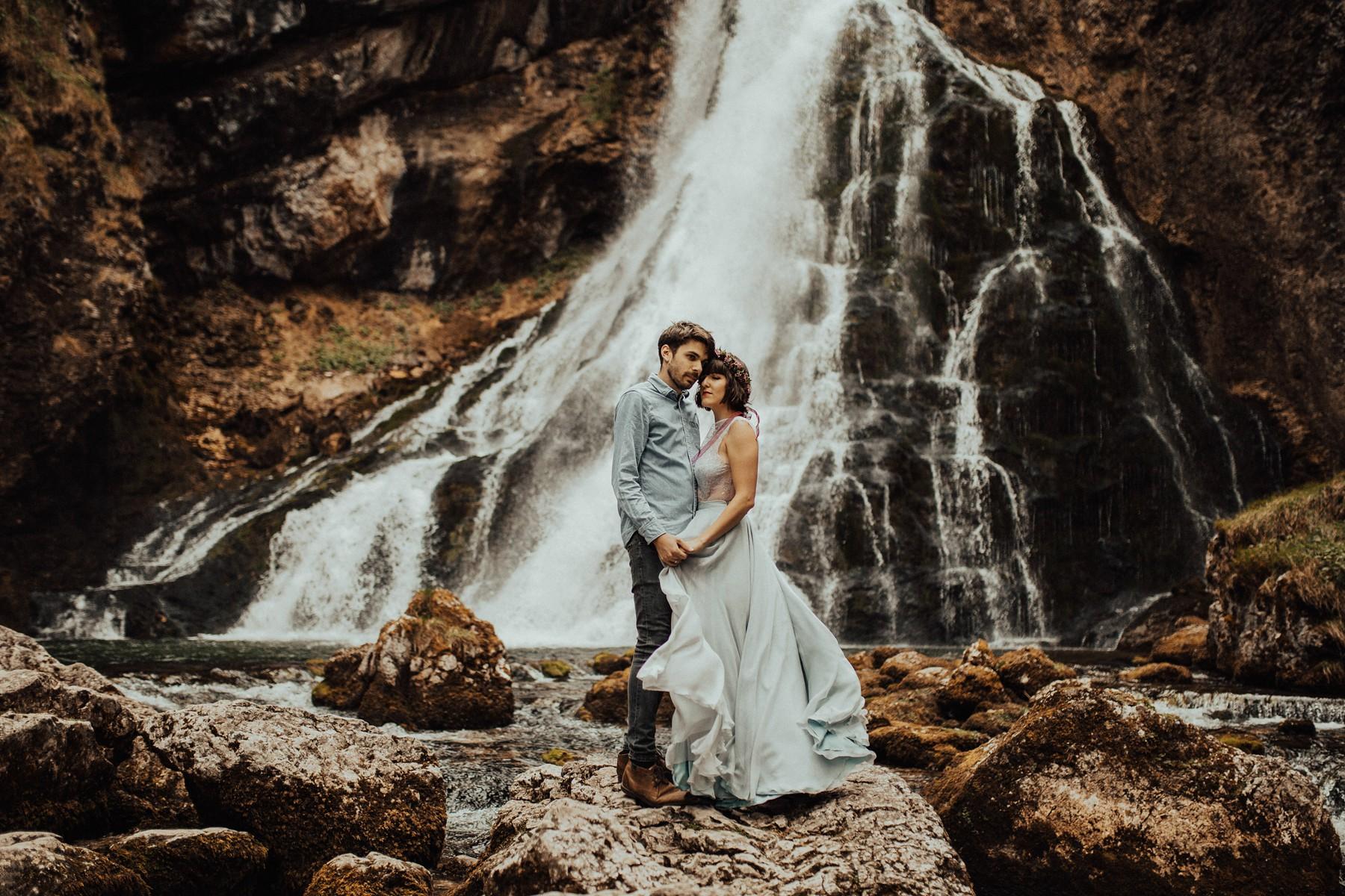 Gollinger Wasserfall Paarfotos